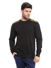 Mast & Harbour Men Black Sweatshirt