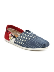 Mast & Harbour Men Blue & Red Casual Shoes