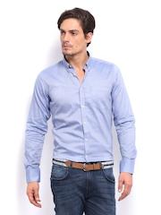 Mast & Harbour Men Blue Formal Shirt
