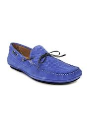 Mast & Harbour Men Blue Suede Boat Shoes