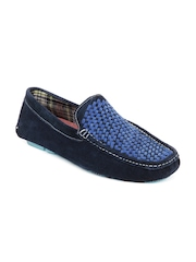 Mast & Harbour Men Blue Suede Loafers