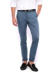 Mast & Harbour Men Blue Trousers