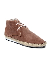 Mast & Harbour Men Brown Suede Casual Shoes