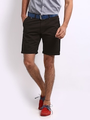 Mast & Harbour Men Coffee Brown Twill Chino Shorts