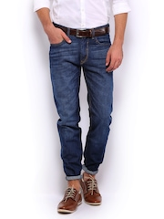 Mast & Harbour Men Dark Blue Jeans