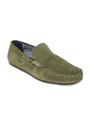 Mast & Harbour Men Green Suede Loafers