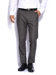 Mast & Harbour Men Grey Sports Formal Trousers
