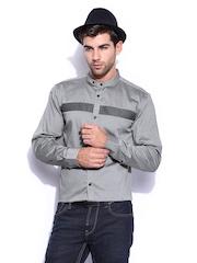 Mast & Harbour Men Grey Club Formal Shirt