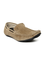 Mast & Harbour Men Light Brown Suede Loafers