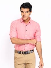 Mast & Harbour Men Pink Smart-Casual Shirt