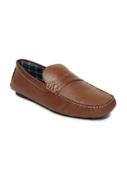 Mast & Harbour Men Tan Brown Leather Loafers