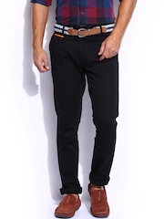 Mast & Harbour Men Black Chino Trousers
