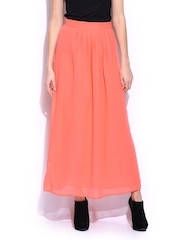 Mast & Harbour Pink Maxi Pleated Skirt
