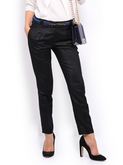 Women Black Formal Trousers Mast & Harbour