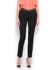 Mast & Harbour Women Black Trousers