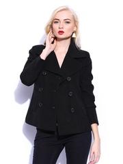 Mast & Harbour Women Black Wool Blend Blazer