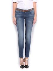 Mast & Harbour Women Blue Skinny Fit Jeans