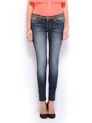 Mast & Harbour Women Blue Slim Fit Jeans