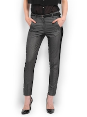 Women Charcoal Grey Formal Trousers Mast & Harbour