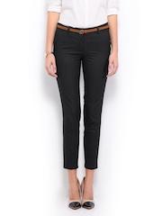 Mast & Harbour Women Dark Grey Kristy Trousers