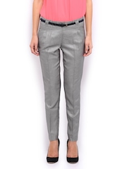 Women Grey Formal Trousers Mast & Harbour 265838