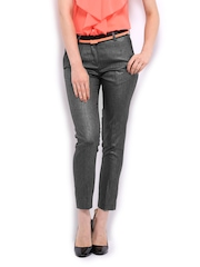 Women Grey Formal Trousers Mast & Harbour