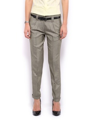 Mast & Harbour Women Grey Marina Formal Trousers