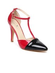 Mast & Harbour Women Red & Black Heels