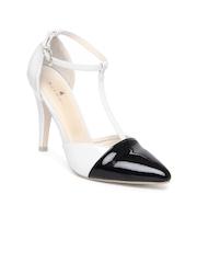 Mast & Harbour Women White & Black Heels