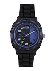 Maxima Attivo Men Black & Purple Dial Watch