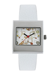 Maxima Attivo Women White Printed Dial Watch