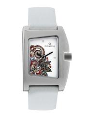 Maxima Attivo Women White Printed Dial Watch