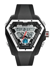 Maxima Men Black Analogue and Digital Watch