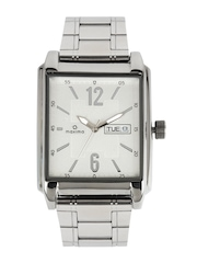 Maxima Men Silver Toned Dial Watch