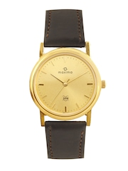 Maxima Men Golden Dial Watch