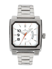 Maxima Men White Dial Watch