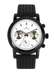 Maxima Men White Dial Watch