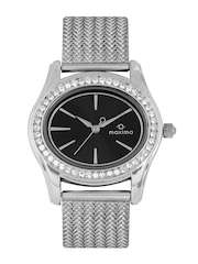 Maxima Women Black Dial Watch 29552CMLI