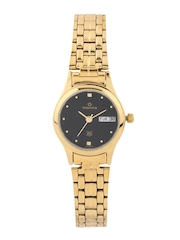 Maxima Women Gold-Toned Dial Watch 05959CMLY