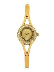 Maxima Women Gold Toned Dial Watch