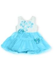 MeeMee Girls Blue Fit & Flare Dress