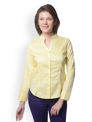 Meira Women Yellow Smart Fit Shirt