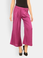 Meira Women Red Wine Coloured Palazzo Trousers