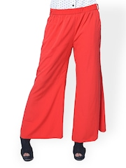 Meira Women Red Palazzo Trousers