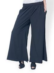 Meira Women Black Palazzo Trousers