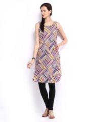 Melange by Lifestyle Women Multi-Coloured Printed Kurta