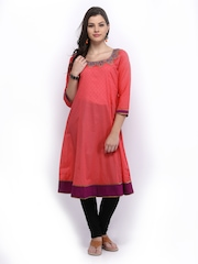 Melange by Lifestyle Women Pink Kurta
