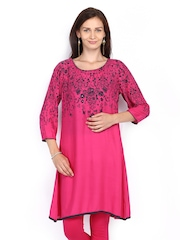 Melange by Lifestyle Women Pink Printed Kurta