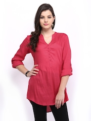 Melange by Lifestyle Women Pink Kurti