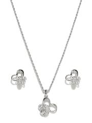 Melifa Sterling Silver Plated Jewellery Set